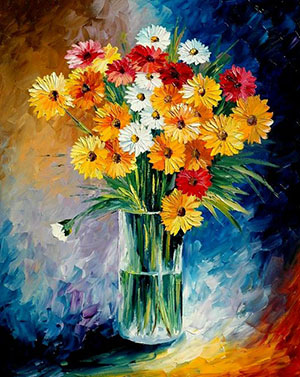 Paintings Of Flowers In Glass Vases