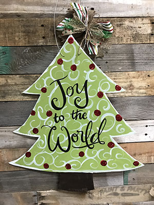 Christmas Tree Wooden Cutout
