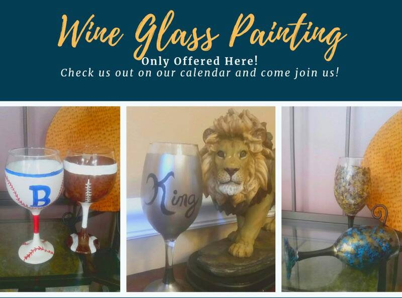 Wine Glass Painting Set Of 2 Masterpiece Mixers Snellville